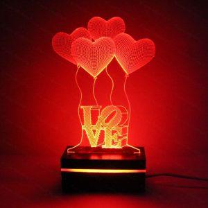بالبینگ-طرح-لاو-و-بادکنک-قلبی-قرمز-رنگ