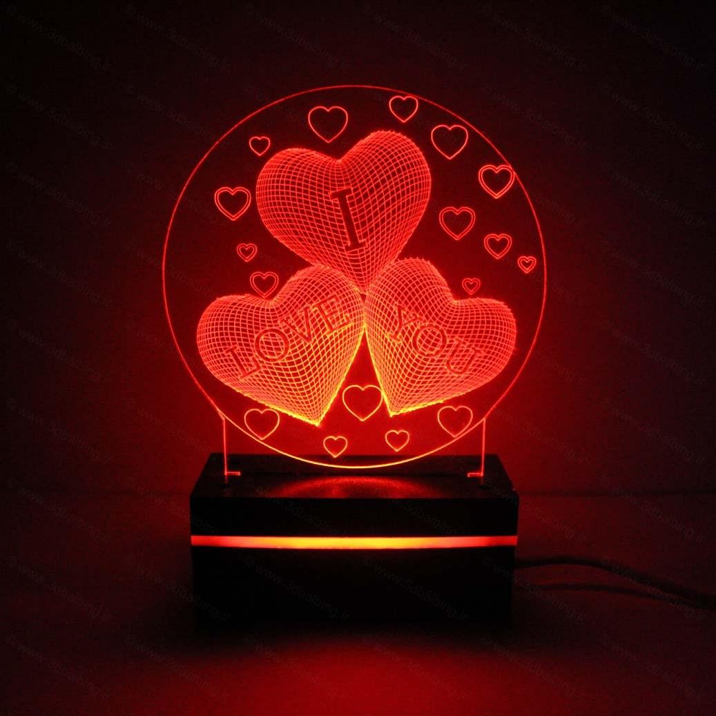 بالبینگ-طرح-i-love-you-قرمز-رنگ
