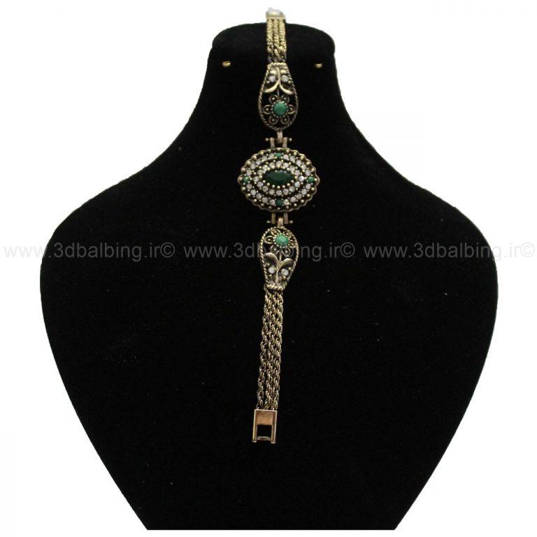 دستبند سنتی سبز (کد130)